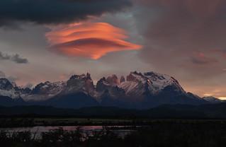 Lenticular sunrise - Torres del Paine, Chile - 08:33 am