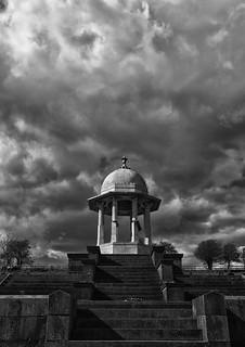 dramatic sky at the Chattri Memorial