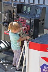 Engineer in Training (craigsanders429) Tags: arizona southernarizonatransportationmuseum children locomotive locomotivecontrolstand railroadmuseums