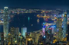 Hong Kong Central (rahe.johannes) Tags: hongkong central city blauestunde skyline hochhaus hochhäuser architektur stadt china