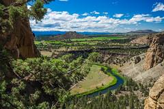 Smith Rock Vista (Tom Fenske Photography) Tags: bend oregon smithrock wilderness monkeyface rockclimbing climbers wild water crookedriver cascades mountains landscape