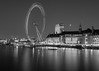 Millenium Wheel (darrenjames.photography) Tags: london eye black white nikon cityscape long exposure d90 thames