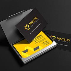 Cartão de visita - Macedo Empreiteira (Francine França | Portfólio Designer Gráfico) Tags: papelaria corporativa identidade visual business card