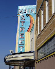 Main Street (Pete Zarria) Tags: minnesota movie cinema film theater noir palace hollywood neon marquee sign art deco main street sinclair lewis nobel prize small town