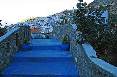 A Bridge (Ellsasha) Tags: chefchaouen morocco riffmountains northafrica blue blues hillside bridge bridges