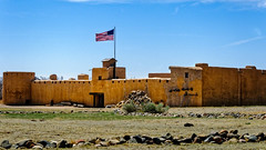 Bent's Old Fort (Z-Imagery) Tags: america architecture arkansasriver artandarchitecture bentsoldfort building co castleoftheplains colo colorado cultural entertainment flagoftheunitedstates fort fortwilliam ft historicsite historical history lajunta livinghistory military mountainbranch mountainroute mountainwest nhs nps national northamerica oldgloy oterocounty parkservice reenactment santafetrail thestarspangledbanner thestarsandstripes us usa unitedstates west adobe aspect castle elevation entrance entryway exterior facade face fieldstone firewood frontage outdoor portal stone structure turret wall watchtower nikon d300 18200mm f3556g ed vrii afs dx nikkor façade