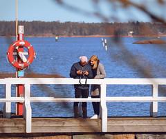 Picking the best shot (samikahkonen) Tags: helsinki finland suomi people sea archipelago bridge pier spring kevät