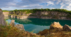 Quarry (Blueocean64) Tags: belgium wallonie hainaut charleroi water eau reflection landscape day sky ciel clouds nuages panoramic panorama nature tree plant serene quiet extérieur outdoor light shadows spring green blue hdr explore panasonic g5 美丽 艺术 摄影 欧洲 旅游 景观 探索 blueocean64