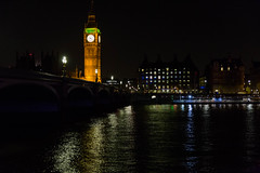 Westminster Night (trevorhicks) Tags: westminster bridge river thames big ben parliament building london night water lights tamron canon 6d