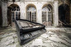 Pianist (Michal Seidl) Tags: abandoned castle opuszczony palac opuštěný zámek hdr urbex lost decay poland piano klavir