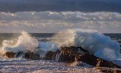 Sea show at sunset (cekuphoto) Tags: castellabate italy sanmarcodicastellabate scogliodelcoccodrillo barca boat mare onde salerno sea seastorm waves ngc