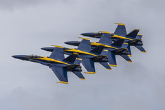 Blue Angels (Danieldevad) Tags: airplane usaf sky flying jet navy us fighter blue yellow blueangels airshow