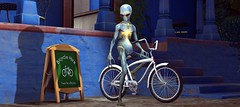 """I am not a tourist, I live here."" (Simon Sonnenblume) Tags: alien bicycle se virtualworld"