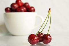 the season of the cheries (adelina_tr) Tags: cheries whitebackground three crazytuesday 7dwf nikond5300 nikkor40mm stilllife fruit glaze red