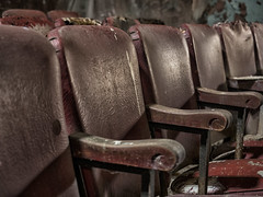 Please Take Your Seat (Brian Rome Photography) Tags: urbex urbanexplration travel buffalo chairs seats abandoned usa america newyorkstate rows sattler oldtheater restore decline empty photo photograph discovery fallingapart