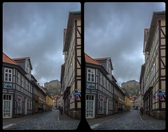 Blankenburg old town 3-D / CrossView / Stereoscopy / HDR / Raw (Stereotron) Tags: sachsenanhalt saxonyanhalt ostfalen harz mountains gebirge ostfalia hardt hart hercynia harzgau blankenburg architecture streetphotography fachwerk halftimbered house stud work antiquated ancient medieval middleages crosseye crosseyed crossview xview cross eye pair freeview sidebyside sbs kreuzblick 3d 3dphoto 3dstereo 3rddimension spatial stereo stereo3d stereophoto stereophotography stereoscopic stereoscopy stereotron threedimensional stereoview stereophotomaker stereophotograph 3dpicture 3dglasses 3dimage hyperstereo twin canon eos 550d yongnuo radio transmitter remote control synchron kitlens 1855mm tonemapping hdr hdri raw
