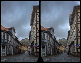 Blankenburg old town 3-D / CrossView / Stereoscopy / HDR / Raw