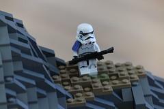 (Izavagooba) Tags: lego star wars battle balmorra sniper custom rock work rockwork dark tan commander 327th 212th 501st imperial base izavagooba