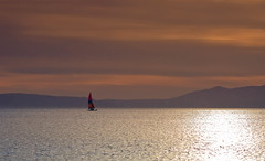 Sailing into the Light (PeterYoung1.) Tags: atmospheric beautiful boats clouds highlights landscape ocean peteryoung1 prestwick reflections scenic scotland scottish scene seascape uk water
