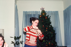 Karen decorating tree Christmas Charleston SC December 1977.jpg (buddymedbery) Tags: holidays charleston southcarolina years 1970s family christmas 1977 unitedstates karencrowmedbery