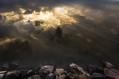 Hope (JuNu_photography) Tags: reflection sky hope rocks heavenly ray earth
