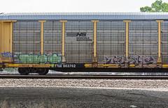 (o texano) Tags: houston texas graffiti trains freights bench benching met mayhem