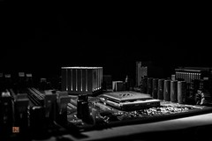chip city (Ntino Photography) Tags: chipcity motherboard building imagination futuristic canoneos5dmarkiii canon35mmf2 blackandwhite art shadows indoors microchips technology monochrome bw