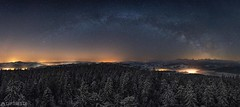 Stars - Chuderhüsi (Captures.ch) Tags: 2017 april black blue bowil chuderhüsi clear emmental galaxy gray landscape milkyway night orange panorama perfect red röthenbach schweiz snow spring stars swiss switzerland trees white yellow