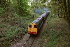 D8001 (20001) climbs the 1 in 56 gradient from the Epping Boundary returning towards North Weald. Epping Ongar Railway Spring Diesel Gala. 23 04 2017 (pnb511) Tags: eppingongarrailway trains heritage railway locomotive loco diesel rail springdieselgala train class20