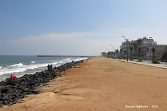 Along the Promenade - Pondicherry India (WanderingPhotosPJB) Tags: india pondicherry puducherry unionterritory french promenade pier beach
