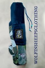 Yoga Mat Bag Embroidered Mermaid (margaretdaniero) Tags: yoga aquatic etsy embroidered embroidery mermaid yogamatbag yogi fitness green blue print velveteen satin brocade drawstring bag should strap carry