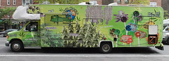 Weed World Candies (TheMachineStops) Tags: outdoor nyc manhattan newyorkcity vehicle 420 pot marijuana ganja cannabis 2017 weed green advertising truck hemp panorama westvillage