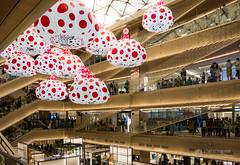Open ceiling of Ginza Six (ギンザシックス). (christinayan01) Tags: interior ginza six japan tokyo architecture building perspective kusama yayoi