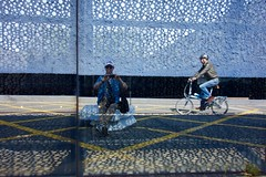 Rob / Fòrum / Barcelona (rob4xs) Tags: barcelona fòrum architectuur jacquesherzog pierredemeuron vakantie holiday catalonë catalunya spanje spain museublau torretelefónica emba rob4xs fiets fahrrad bicycle mirrorproject architecture españa