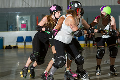 2016-06-04 Whitewood Block Party Game 2_005 (Mike Trottier) Tags: blockparty canada derby miketrottier miketrottierrollerderbyphotography rollerderby saskatchewan straightjackets whitewood can