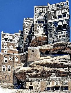 Yemen, Wadi Dhar Rock Palace