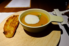 Pumpkin soup (A. Wee) Tags: cathaypacific thepier firstclass airport lounge hkg hongkong 国泰航空 香港 机场 中国 china
