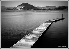 Ría de Santoña (marijeaguillo) Tags: mar ría pasarela diagonal bn