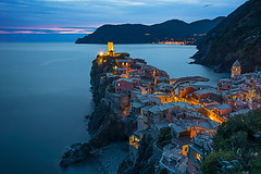 Vernazza at Dusk (Palnick) Tags: vernazza travel sunset sea italy landscape terre architecture cinque town liguria colorful coast village italian water sky mediterranean seascape rock europe vacation park beach manarola blue destination bay tourism ocean view marina hill cinqueterre house outdoor city cityscape beautiful church tower scenic cliff five background 5 coastline peaceful ligury