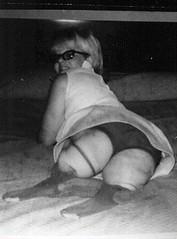 h0102pf15 - DAK Paula nylons and stumps (jackcast2015) Tags: amputee legamputee wheelchairwoman wheelchair disabledwoman crippledwoman amputeewoman nolegs doubleabovekneeamputee dakamputee glasses eyeglasses girlswithglasses girlswearingglasses