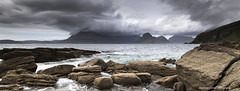 Peaks wreathed in clouds. (lawrencecornell25) Tags: landscape waterscape mountains skye scenery scotland isleofskye elgol cuillins clouds stormy nature outdoors lochscavaig nikond5