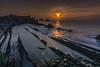 desde el acantilado,despedida al sol (eolo1947) Tags: arnía cantabria cantabrico liencres uros
