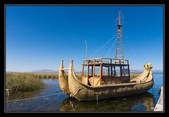 Titicaca - bateau en totora (M@P31) Tags: lac altiplano sonya77 thaki bolivia bateau paysage lago sigma1770c andes cordillère bolivie titicaca 2016 landscape totora barco