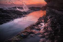 Summer Paradise (luisdonate) Tags: moment sea water ocean rocks beach harbour sunset paradise wave waves