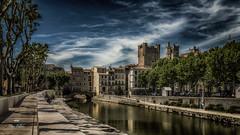 Narbona en occitan ! (Fred&rique) Tags: lumixfz1000 raw photoshop hdr narbonne aude canal cathédrale architecture ville eau arbres