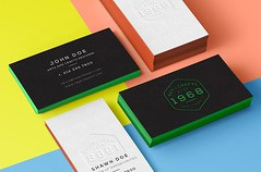Oubly Edge Colored Business Cards