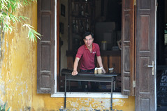 Ready for business (Roving I) Tags: smiles cafes tables windows opening woodenshutters shortcut doors entrances chalkboards trade dining tourism hoian vietnam