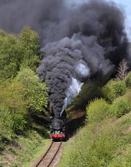 S160 Spectacular (2) (Neil Harvey 156) Tags: steam steamloco steamengine steamrailway railway 6046 5197 bradnop cauldonlowebranch churnetvalleyrailway s160 limalocomotiveworks baldwinlocomotivecompany doubleheaded