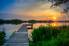 Hoornsemeer (leonm84photography) Tags: jetty lake water nikon nikond5200 hdr flickr recommended spiegelrefex sky sundown sunset blue green meer netherlands