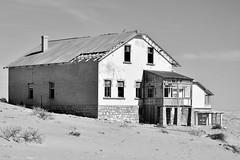 Desert/Deserted. (pstone646) Tags: building deserted namibia africa kolmanskop blackandwhite monochrome derelict decay architecture historic desert dunes